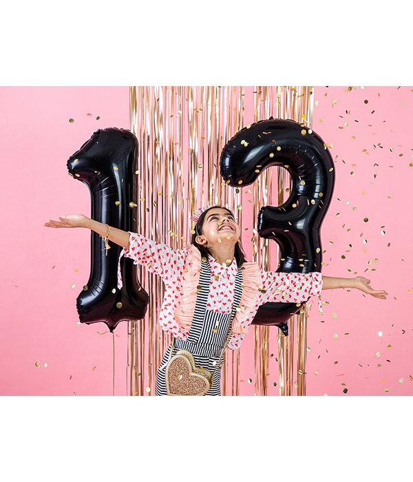 Folieballon Cijfer 3 Zwart (86cm)