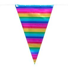 Vlaggenlijn Regenboog Metallic (10m)