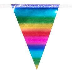Minivlaggenlijn Regenboog Metallic (3m)