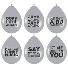 Ballonnen Song Quotes Disco Zilver (6st)