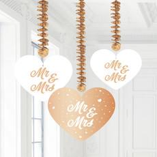 Hangdecoratie Mr. & Mrs. Roségoud (3st)