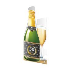 Wenskaart 50 Jaar Champagne