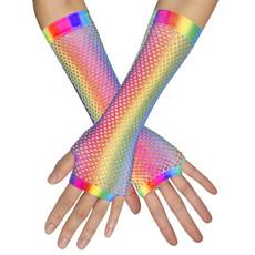 Nethandschoenen Regenboog Neon
