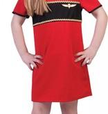 Stewardess pakje kind rood