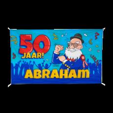 Gevelvlag Abraham Cartoon (90x150cm)