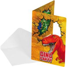 Uitnodigingen Dinosaurus (6st)