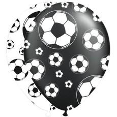 Ballonnen Voetbal Zwart en Wit (8st)