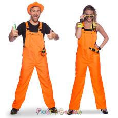 Tuinbroek Neon Oranje Party