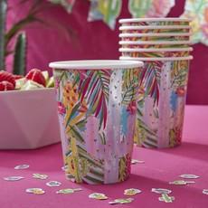Party Bekers Iriserend Cactus en Palmboom (8st)