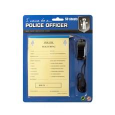 Politie bonnenboekje + fluit en potlood