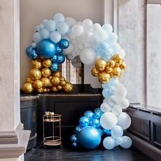 Luxe Ballonboog Set Blauw/Goud Premium