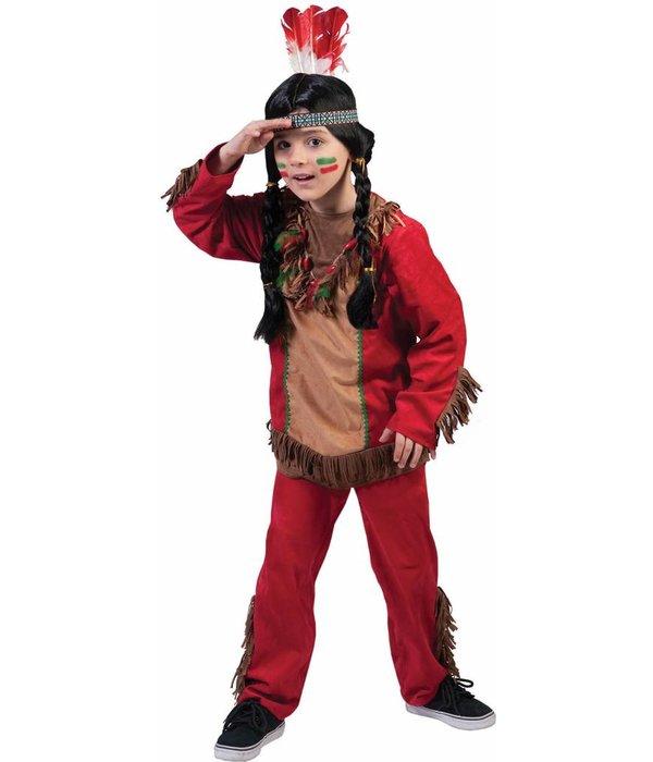 Indiaans jongen kostuum Red Hawk elite