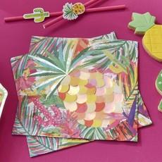 Servetten Iriserend Tropical Party Cactus  (16st)