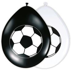 Feestballonnen Voetbal Zwart/Wit (8st)