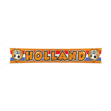 Banner Voetbal Holland Oranje (370x60cm)