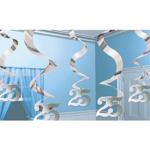 Hangdecoratie 25 jarig huwelijk zilver
