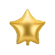 Folieballon ster goud Satijn 48cm