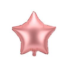 Folieballon ster Rose Goud Satijn 48cm