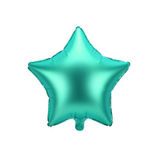 Folieballon ster Groen satijn 48cm