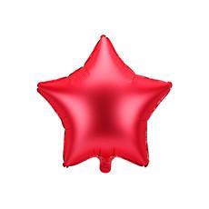 Folieballon ster rood Satijn 48cm