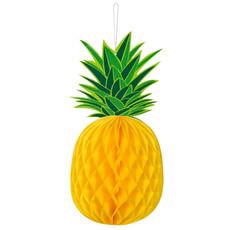 Ananas Honeycomb Hawaii Decoratie Rond (30x14cm)