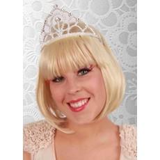 Kroontje tiara prinses zilver
