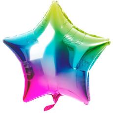 Folieballon Ster Rainbow (48cm)