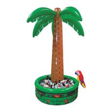 Hawaii Palmboom opblaasbaar met cooler en papegaai