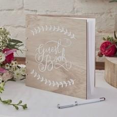Gastenboek Bruiloft Vintage Rustiek Hout