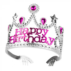 Prinsessenkroontje 'Happy Birthday' Pink