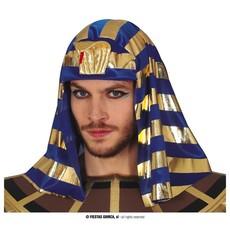 Hoofddoek Farao Blauw/Goud