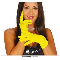 Korte Handschoenen Geel