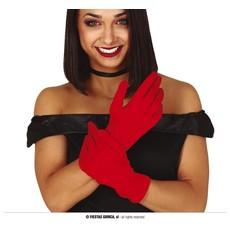 Korte Handschoenen Rood