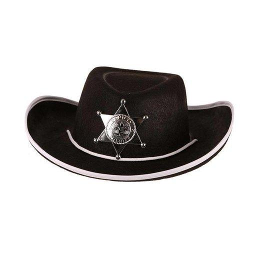Hoed Vilt Sheriff zwart junior