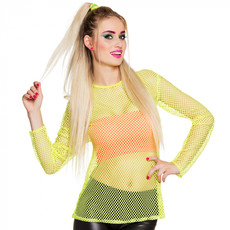 Visnet shirt neon geel