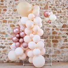 Ballonnen Backdrop Set Rozegoud/Wit/Roze (70st)