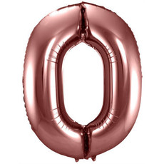 Folieballon Brons Cijfer 0 - 86 cm