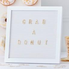 Letterbord Met Gouden Letters