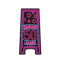Neon Attentiebord 50 Sarah