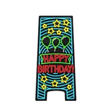 Neon Attentiebord Happy Birthday