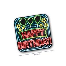 Huldeschild Happy Birthday Neon
