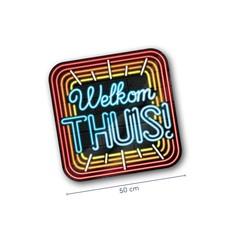 Huldeschild Welkom Thuis Neon