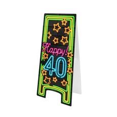 Neon Attentiebord 40 Jaar