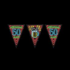 Neon Vlaggetjes Abraham 50 Jaar