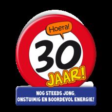 Wenskaart Verkeersbord 30 Jaar