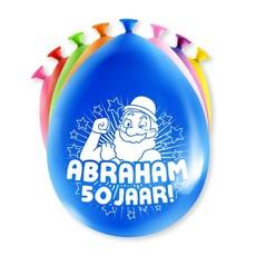 Party Ballonnen Abraham 50 Jaar - 8 Stuks