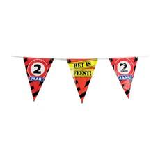 Party Vlaggenlijn Verkeersbord - 2 jaar