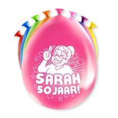 Party Ballonnen Sarah 50 Jaar - 8 Stuks