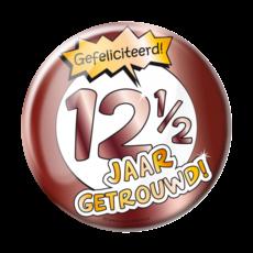 Button 12,5 Jaar Getrouwd Jubileum Brons XL