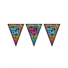 Neon Vlaggenlijn Party time - 10m
